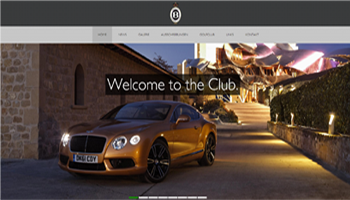 Bentley Owners Club - Webdesign